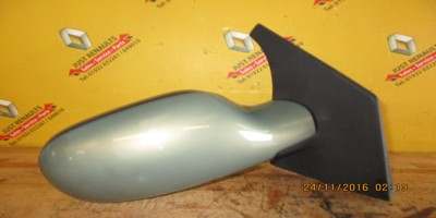 Scenic 2001-2003 1.6 16v Drivers Side Mirror Green